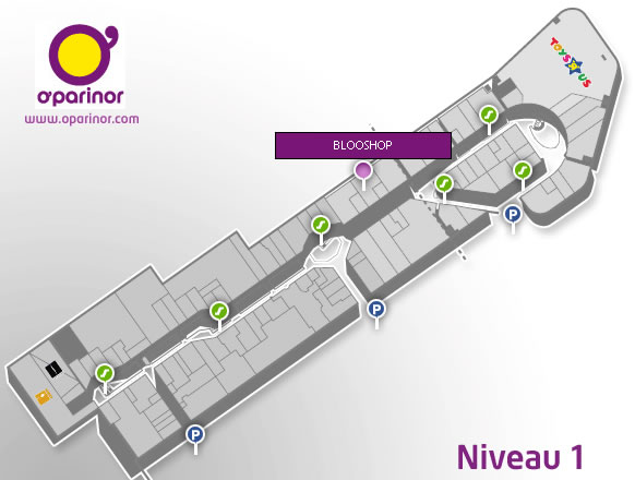 Plan O'Parinor Blooshop - niveau 1