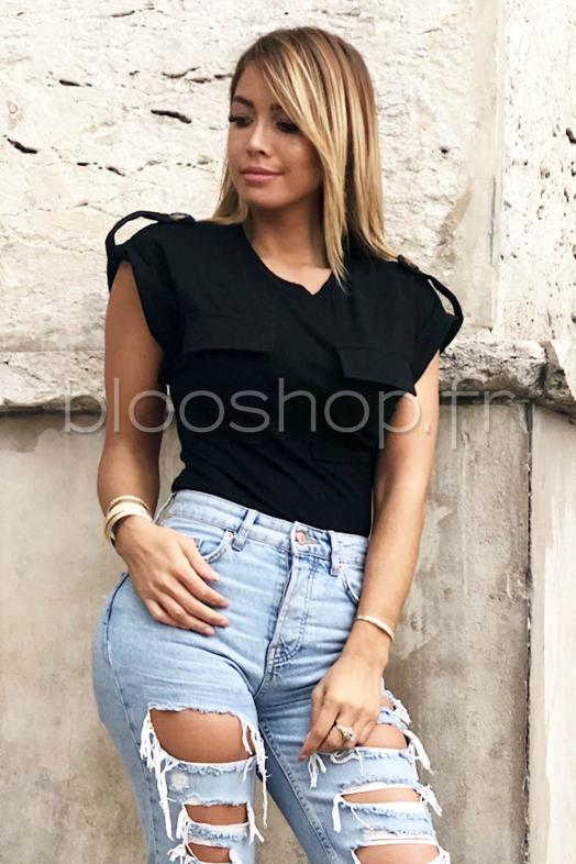 Body Poches Femme Noir   Réf   1633 70529415665