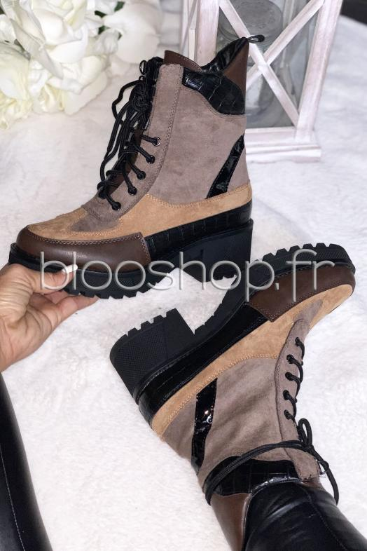 Boot´s Rangers Femme Taupe / Réf : 7646