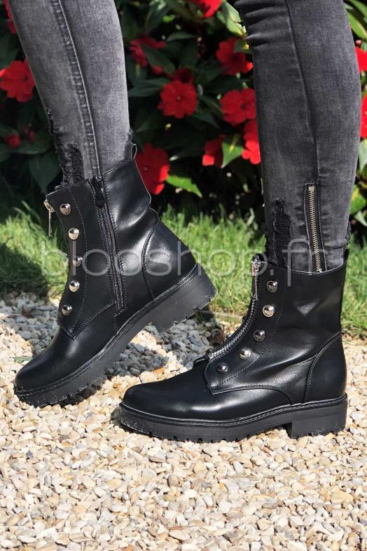 Bottines Zip et Clous / Réf : 12238-99