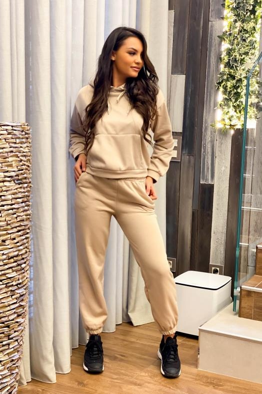 Ensemble Femme Sweat + Jogging Beige / Réf :2751-2