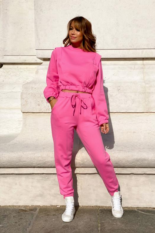 Ensemble Femme Sweat + Jogging Rose / Réf : 1753-9