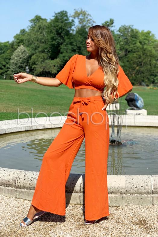 Ensemble Top + Pantalon Femme Orange / Réf : 4645
