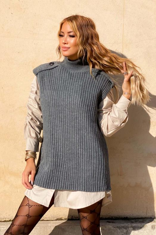 Woman Pullover Grey / Ref : 9878