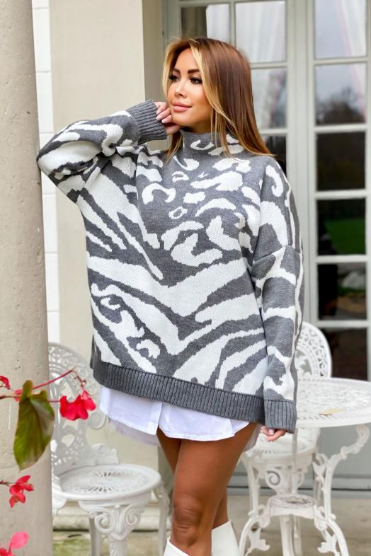 Woman Pullover Grey / Ref : 7556