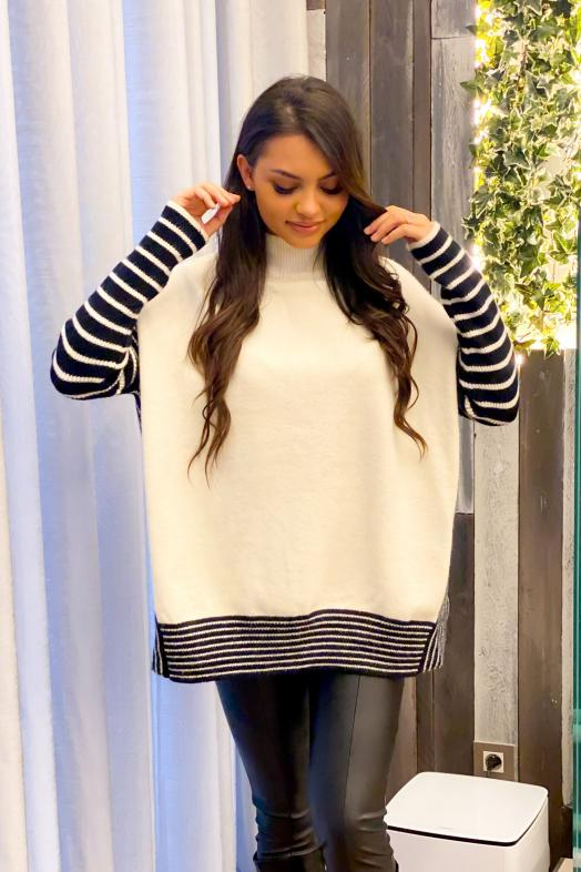 Woman Pullover White / Ref : 8002-1