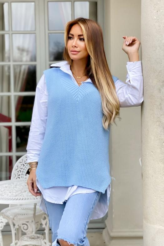 Woman Pullover Blue / Ref : 7383