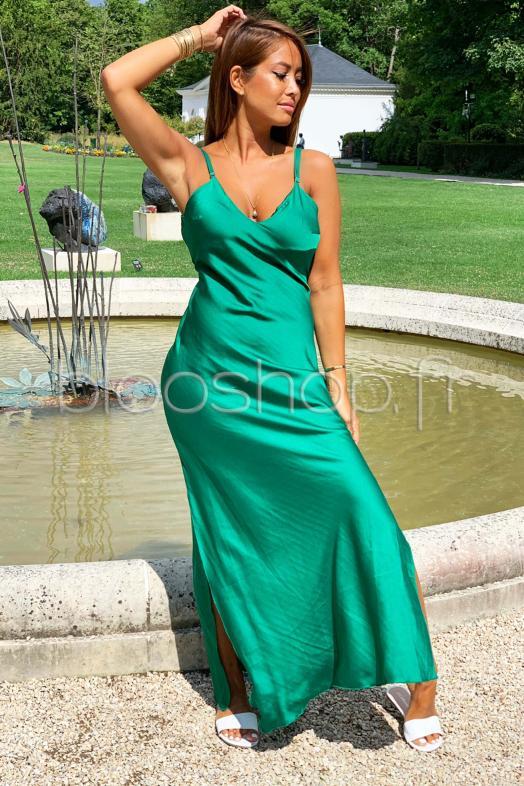 Femme Robe Turquoise Drapé Fujc3kl1t Voile TJcul1F5K3
