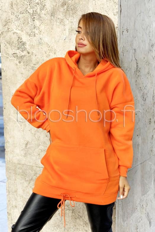 Robe Sweat Femme Orange / Réf : 8030