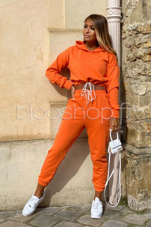 Sweat Femme Noué Orange / Réf : 7265