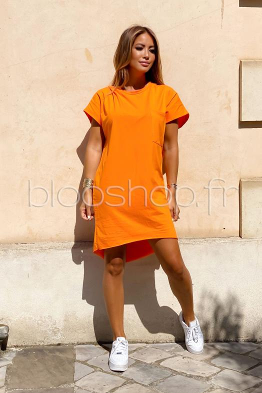 T-Shirt Robe Femme Orange / Réf : 8844