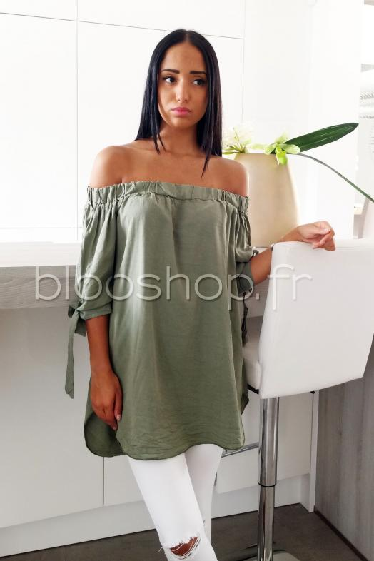 Top Long Bardot / Réf : 9001