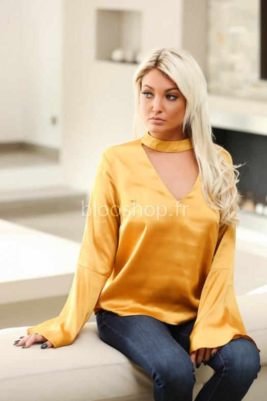 Top Satin Manches Larges / Réf : 1289