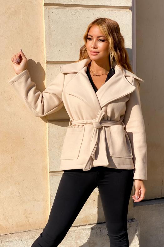 Trench Femme Court Beige / Réf : 8265