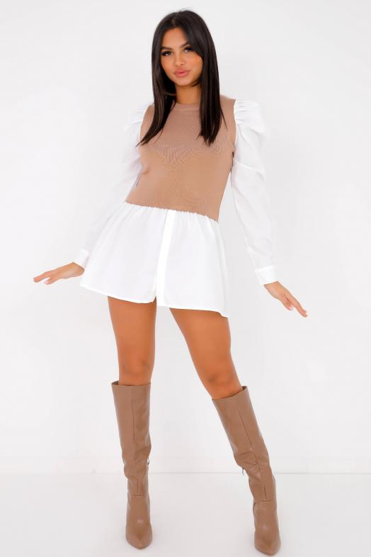 Woman Top Taupe / Ref : 502