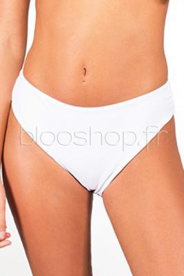 Bas de Maillot de Bain Femme Uni Blanc / Réf : B1829