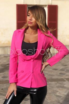 Blazer Croisé Femme Rose / Réf : 7014