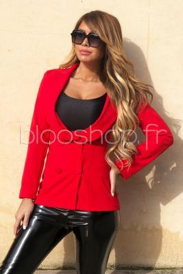 Blazer Croisé Femme Rouge / Réf : 7014