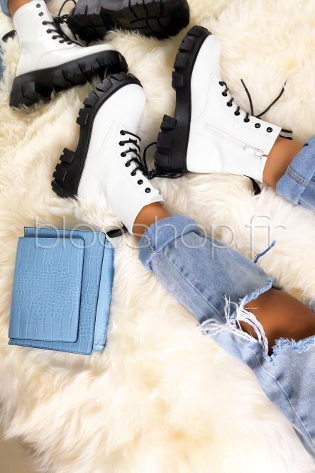 Boot's Femme à Lacets Blanc / Réf : SN280