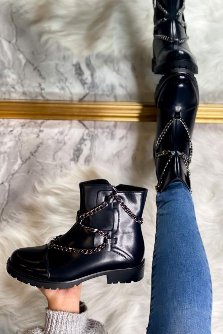 Boot's Femme Chaîne Noir / Réf : 1752-1