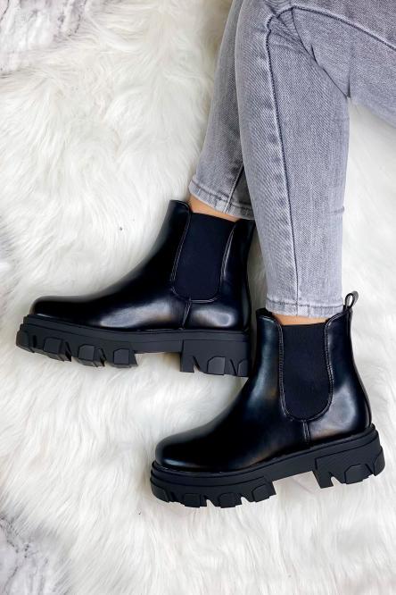 Boot's Femme Elastique Noir / Réf : 168301-0
