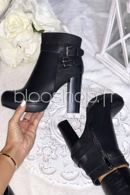 Boot's Talon Zip Femme Noir / Réf : M167