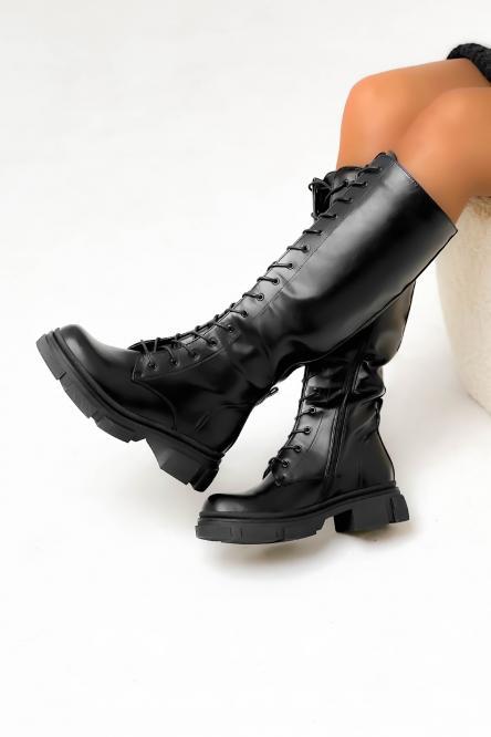 Bottes Femme à Lacets Noir / Réf : 20574-12
