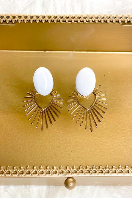 Woman Earring White
