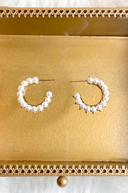 Boucles d'oreilles Femme Blanc / Réf : 513-1