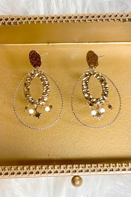Boucles d'oreilles Femme Doré / Réf : 368-26