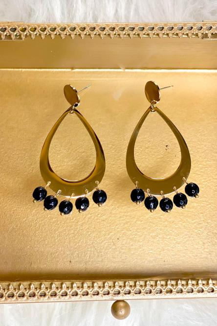 Woman Earring Black