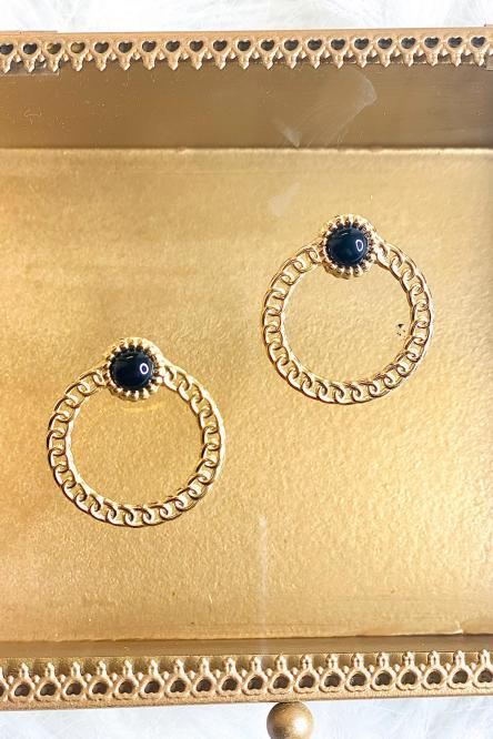 Womans Earrings Black