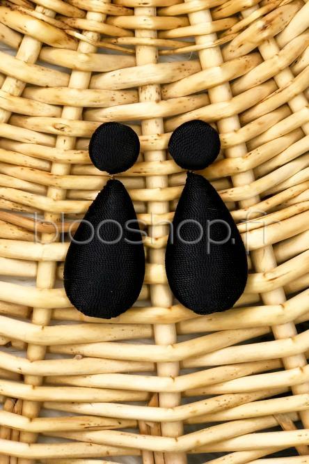 Boucles d'oreilles Femme Noir / Réf : BO51-122
