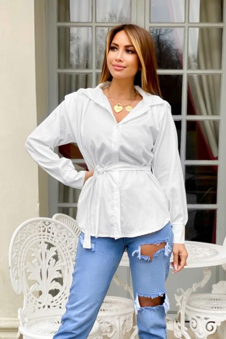 Chemise Femme Nouée Blanc / Réf : 8160-1