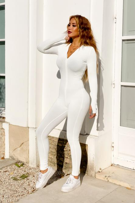Combinaison Femme Moulante Blanc / Réf : 2001