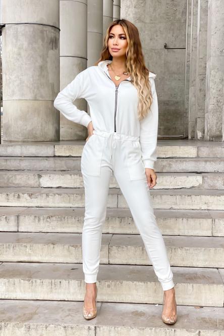 Combinaison Femme Velours Blanc / Réf : 9338