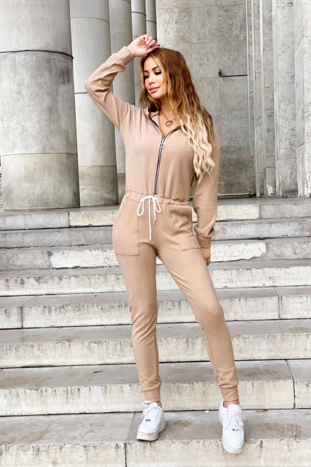 Woman Jumpsuit Camel