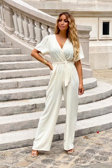 Combinaison Pantalon Femme Ample Beige / Réf : 5133-2