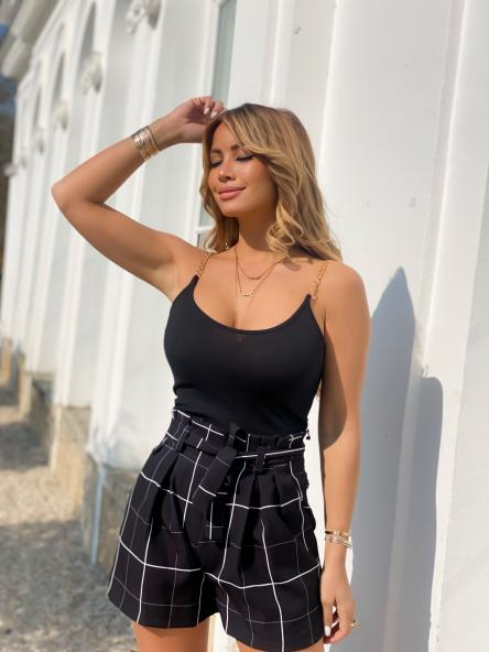 Débardeur Femme Chaînes Noir / Réf : 6983-0