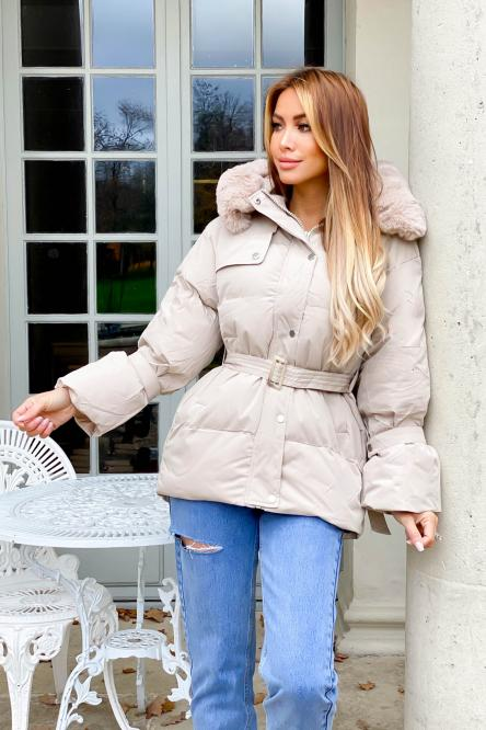 Woman Coat Beige