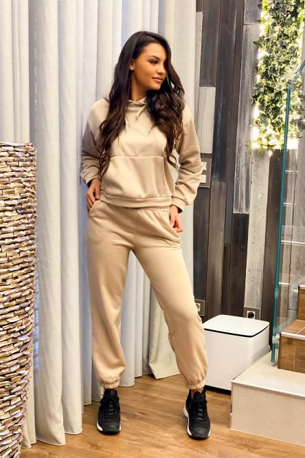 Ensemble Femme Sweat + Jogging Beige
