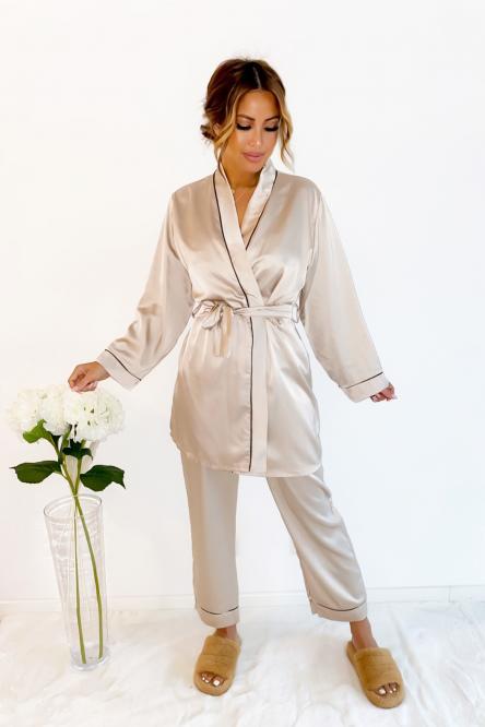 Ensemble Pyjama Femme Beige / Réf : 3227-2