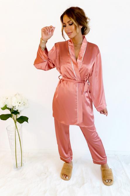 Ensemble Pyjama Femme Terracotta / Réf : 3227-34