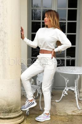 Ensemble Sweat + Jogging Femme Blanc