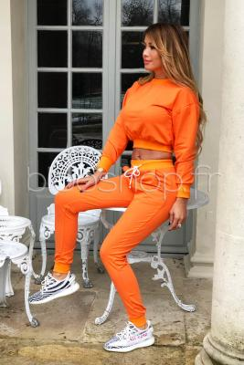 Ensemble Sweat + Jogging Femme Orange