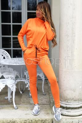 Ensemble Top + Pantalon Femme Orange