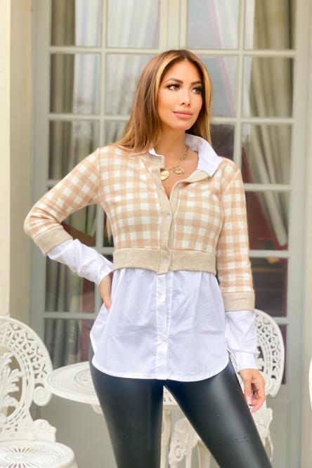 Woman Cardigan Beige