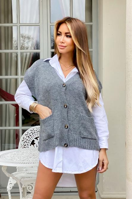 Woman Cardigan Grey