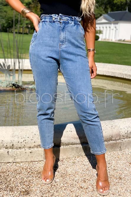 Jeans Femme Baggy Bleu / Réf : 1177