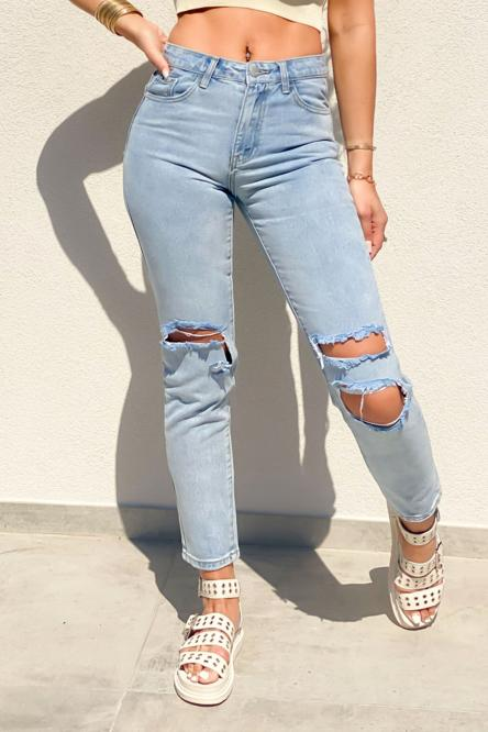 Jeans Femme Destroy Bleu / Réf : 1366-32